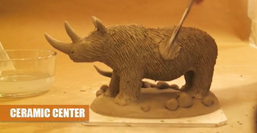 Rinocérosz Készítése | Agyagformázás